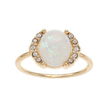 LC Lauren Conrad Simulated Opal Halo Ring