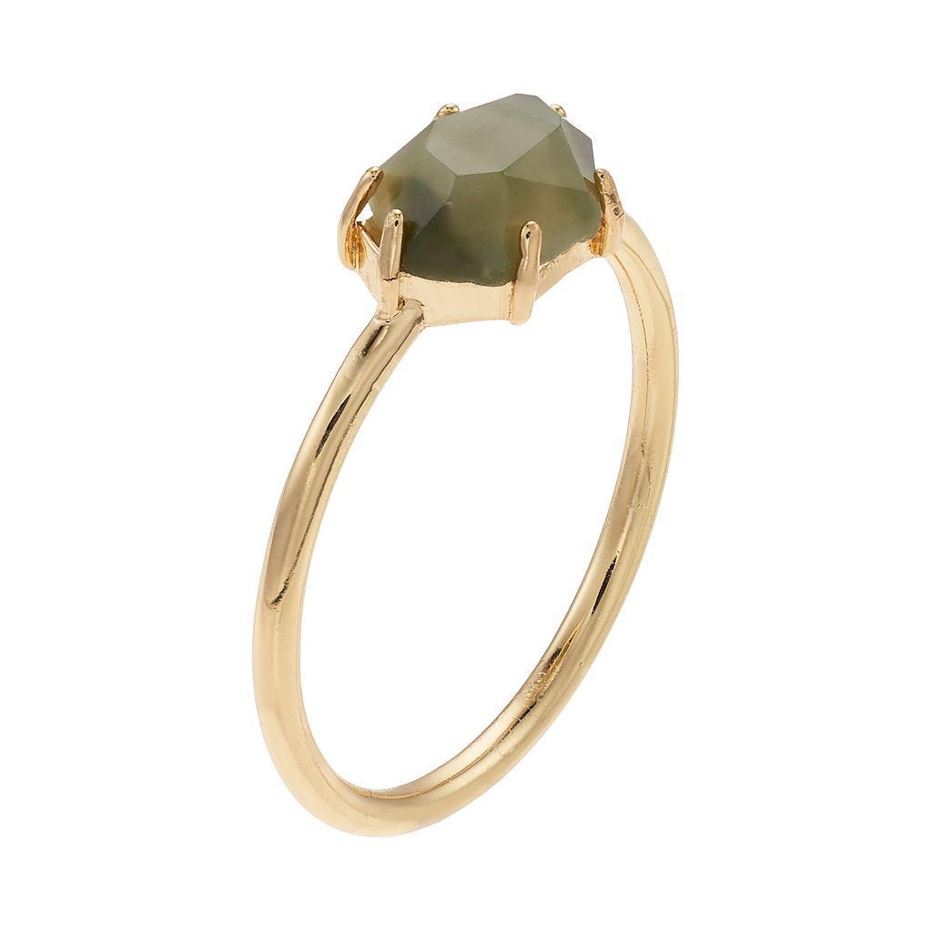 LC Lauren Conrad Faceted Stone Ring