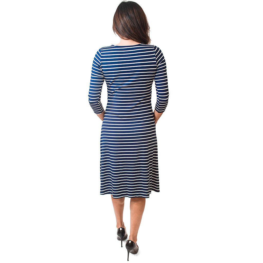 Maternity Pip & Vine by Rosie Pope Popover Striped Nursing Dress
