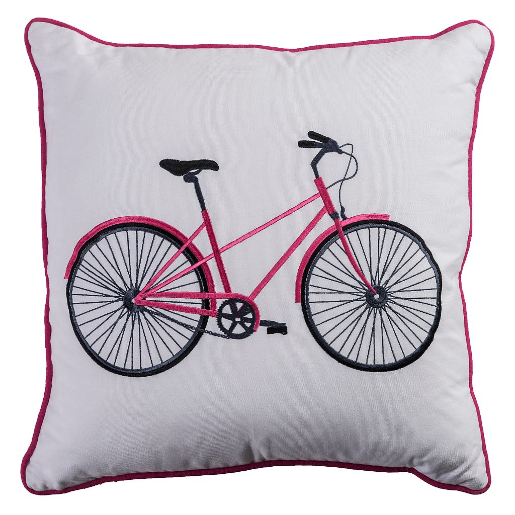 Rizzy Home Bicycle Throw Pillow