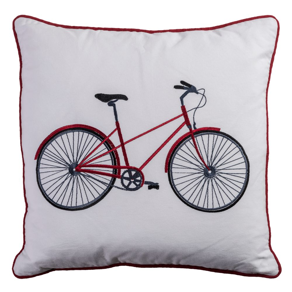 Home Bicycle Throw Pillow