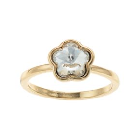 LC Lauren Conrad Simulated Crystal Flower Ring