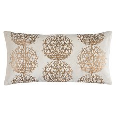 Rizzy Home Metallic Medallion Oblong Throw Pillow