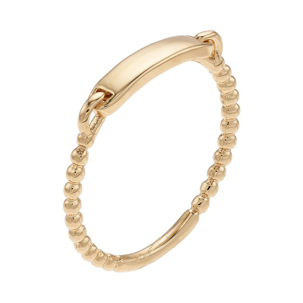 LC Lauren Conrad Textured Bar Ring