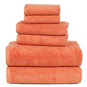 Portsmouth Home Zero Twist 6 pc Bath Towel Set