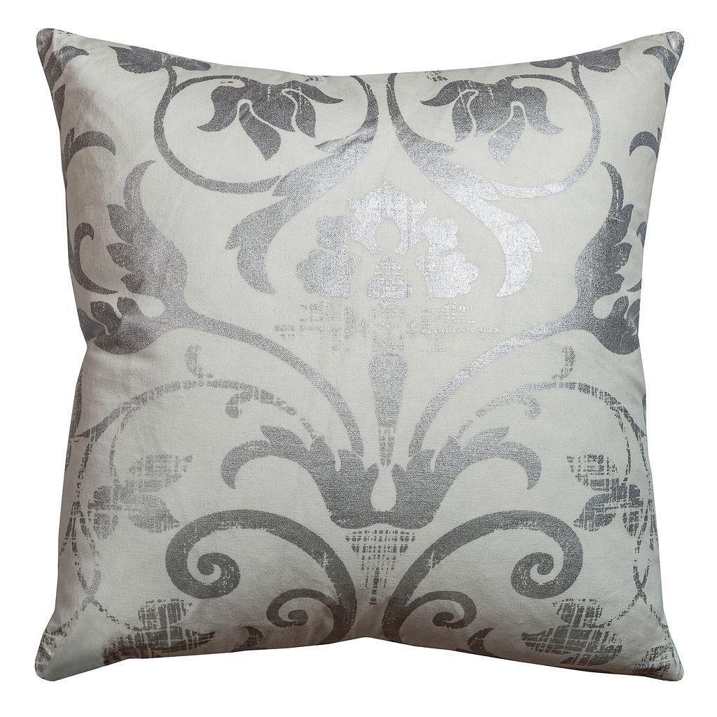 Rizzy Home Metallic Flourish Throw Pillow