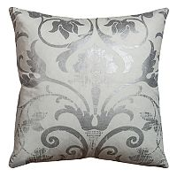Rizzy Home Metallic Flourish Throw Pillow
