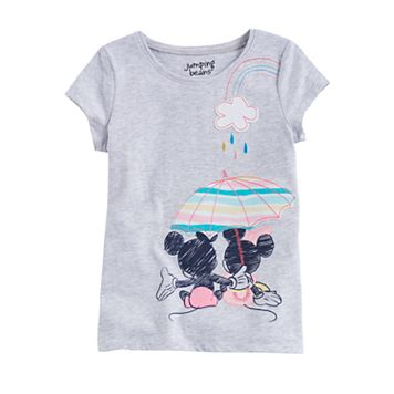 Disney's Mickey Mouse Girls 4-10 Mickey & Minnie Umbrella Graphic Tee by Jumping Beans®