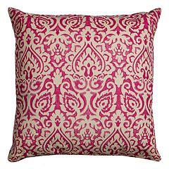 Rizzy Home Damask Burlap Throw Pillow