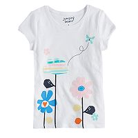 Girls 4-10 Jumping Beans® Slubbed Graphic Tee