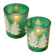 LumaBase Pine Tree LED Candle 2-piece Set