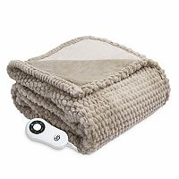 Serta Honeycomb Faux Fur Throw