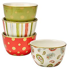 Certified International Home for the Holidays 4 pc Ice Cream Bowl Set