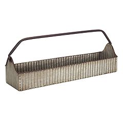 Large Rustic Farmhouse Metal Planter