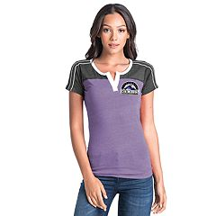 Women's Colorado Rockies Colorblock Tee