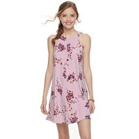 Juniors' Trixxi Floral Halter Shift Dress