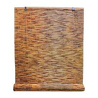Radiance Cocoa Woven Reed Light Filtering Roll Up Window Blind