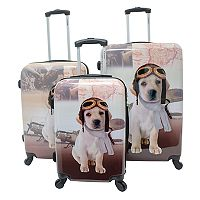 Chariot Oldies 3 pc Hardside Spinner Luggage Set