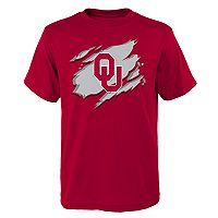 Boys 8-20 Oklahoma Sooners Ripped Off Tee