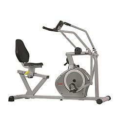 Sunny Health & Fitness Cross-Training Recumbent Bike