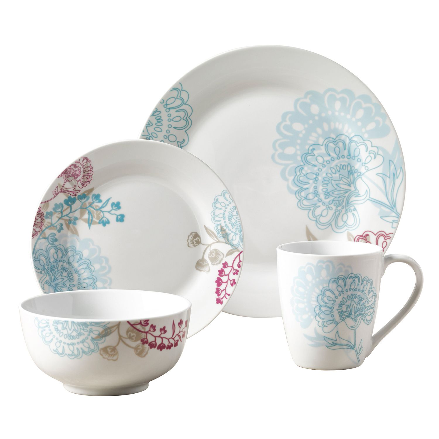 sc 1 st  Kohlu0027s & Tabletops Gallery Emma 16-pc. Dinnerware Set