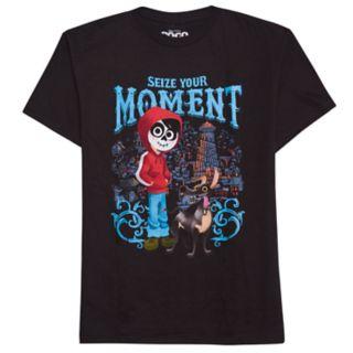 "Disney / Pixar Coco Boys 8-20 ""Seize Your Moment"" Graphic Tee"