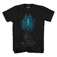 Boys 8-20 Star Wars Millenium Falcon Rey Graphic Tee