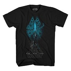 Boys 8-20 Star Wars Millenium Falcon Rey Graphic Tee