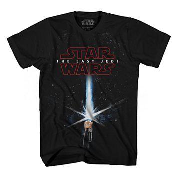 Boys 8-20 Star Wars: Episode VIII The Last Jedi Saber Rey Graphic Tee