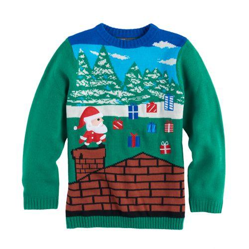 Boys 8 20 33 Degrees Christmas Sweater