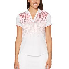 Women's Grand Slam Ombre Print Short Sleeve Golf Polo