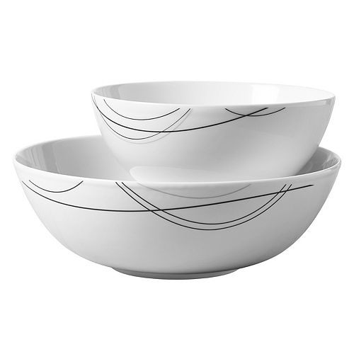 Tabletops Gallery Alec 2-pc. Serving Bowl Set