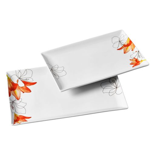 Tabletops Gallery Lily 2-pc. Rectangular Platter Set