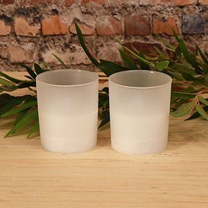 LumaBase Frosted Glass LED Candle 2-piece Set