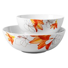 Tabletops Gallery Lily 2-pc. Serving Bowl Set