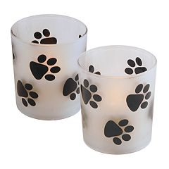 LumaBase Paw Print LED Candle 2-piece Set