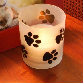 LumaBase Paw Print LED Candle 2-piece Set