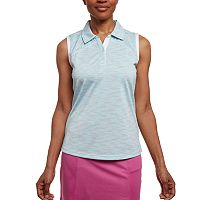 Women's Pebble Beach Heathered Sleeveless Golf Polo