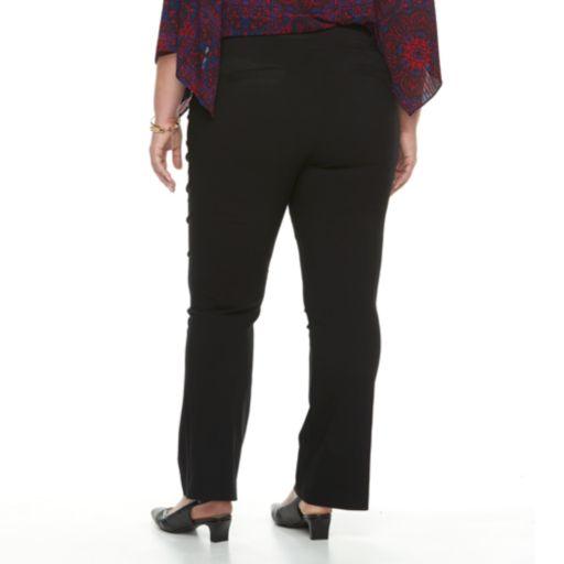 Plus Size Dana Buchman Pull-On Baby Bootcut Pants