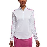 Women's Pebble Beach Printed Jersey 1/4-Zip Golf Top