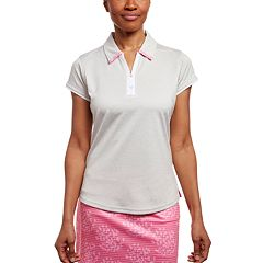 Women's Pebble Beach Heathered Short Sleeve Golf Polo