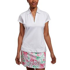 Women's Pebble Beach Printed Accent Short Sleeve Golf Polo
