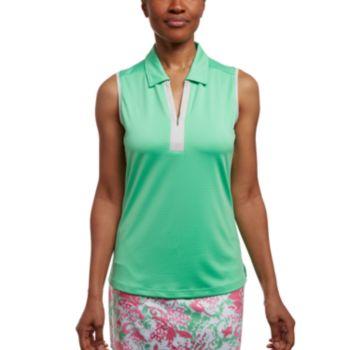 Women's Pebble Beach Jacquard Sleeveless Golf Polo