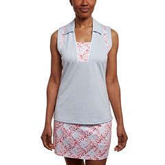 Women's Pebble Beach Textured Insets Sleeveless Golf Polo