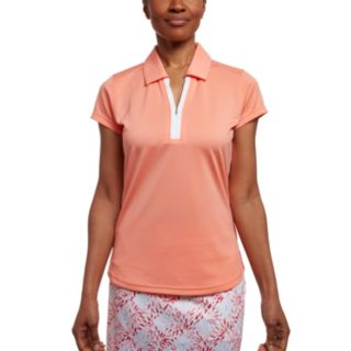 Women's Pebble Beach  Embossed Short Sleeve Golf Polo