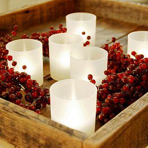 LumaBase Frosted Plastic Warm White LED Candle 6-piece Set