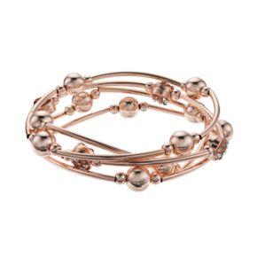 Bead & Tube Stretch Bracelet Set