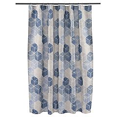 Saturday Knight, Ltd. Cubes Fabric Shower Curtain