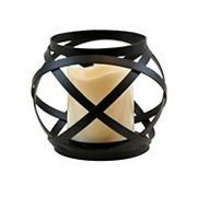 LumaBase Woven Orb Lantern & LED Candle 2 pc Set