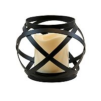 LumaBase Woven Orb Lantern & LED Candle 2 pc Set